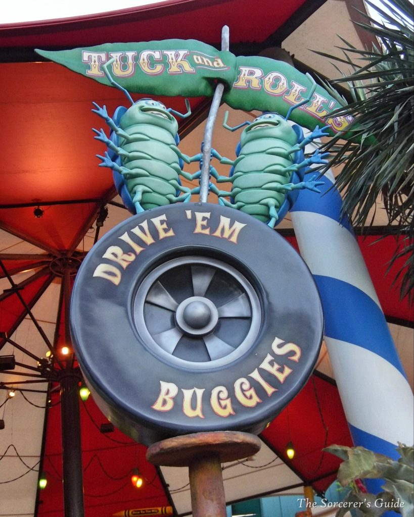Tuck and Roll's Drive 'Em Buggies sign