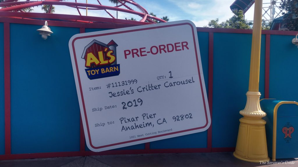 Jessie's Critter Carousel Construction Sign