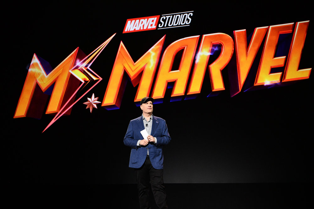 Kevin Feige announces new series coming to Disney+: Ms. Marvel, Moon Knight, and She Hulk.