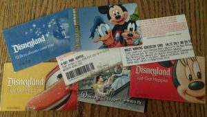 Various Tickets to the Disney Parks