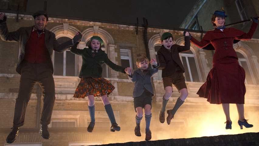 Mary Poppins and children